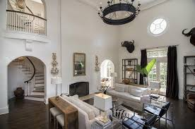 eclectic living room with carpet chandelier in ta fl