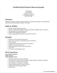 100 Dental Assistant Resume Templates Template For Examples