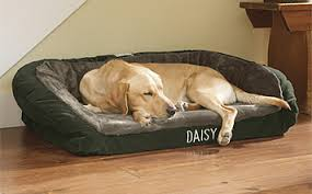 Faux Fur Deep Dish Dog Bed with Memory Foam Orvis