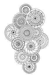Free Coloring Page Zen Antistress Abstract Pattern Inspired By