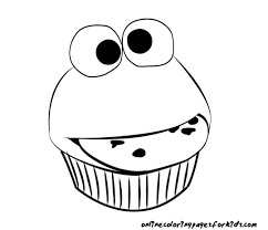 28 Collection Of Easy Cupcake Coloring Pages