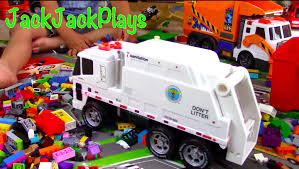 Garbage Trucks For Children: NYC Sanitation Truck Toy UNBOXING ... Garbage Truck Toy For Kids Playset With Trash Cans Youtube Air Pump Series Brands Products Www Videos For Children L Mighty Machines At Work Garbage Truck Children Bruder Recycling 4143 Phillips Video 3 Amazoncom Tonka Motorized Ffp Toys Games Big Orange The Park Car Garage Factory Cartoon About Cars Top 15 Coolest Sale In 2017 And Which Scania Surprise Unboxing Playing Toy Time Garbage Trucks Collection R Us Green Side Loader