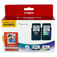Canon PG 240XL And CL 241XL Printer Ink Cartridge With Paper 5206B005