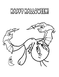 Tweety Bird And Halloween Bats Coloring Page