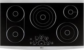 100 Studio 36 LG STUDIO BuiltIn Electric Cooktop Stainless Steel At
