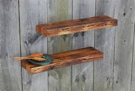 Two Barn Wood Floating Shelves 35 X 925 Kitchen