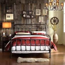 king size bed vintage rustic victorian metal spindle headboard