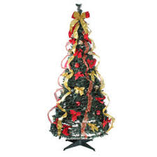 Northlight 6 Pre Lit Gold And Red Decorated Pop Up Artificial Christmas Tree