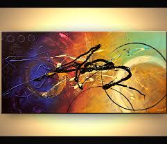 abstract painting colorful modern contemporary textured abstract