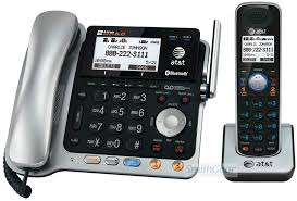 at and t tl dect 6 0 2 line corded cordless phone w bluetooth 19