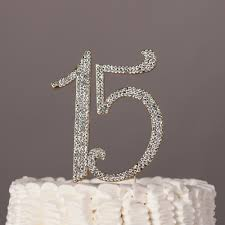 15 Cake Topper Gold Quincea±era 15th Birthday Number Decoration