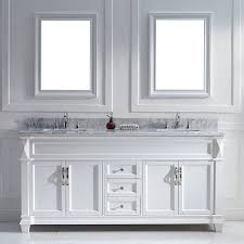 72 Inch Double Sink Bathroom Vanity by Overstock Solid Oak W Decorative Corners And Marble Backsplash