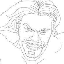Edge Wrestler Coloring Page