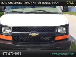 2010 Chevrolet 3500 4x4 Passenger Van For Sale In Tampa Florida