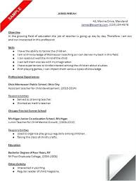 Download Preschool Teacher Resume Sample Pdf