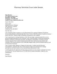 Pharmacists Technician Letter