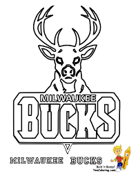 Milwaukee Bucks Basketball Logo Color Page At YesColoring