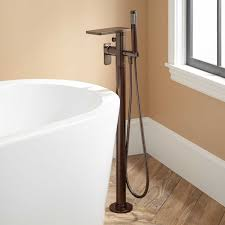 Rubbed Bronze Bathroom Faucet by Ghani Freestanding Tub Faucet And Hand Shower Bathroom