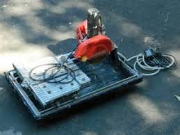husky 7 in wet tile saw with laser and stand discontinued husky