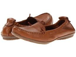 hush puppies ceil slip on shoes tan leather products for women