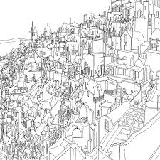 Coloring Book Adults Fantastic Cities Steve Mcdonald 25