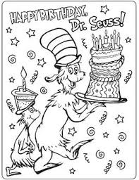 Free Coloring Page For Dr Seuss Week