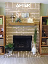 Paint Colors Living Room Red Brick Fireplace by Cheap Easy Fireplace Makeover Concrete Stain Got Rid Of My Ugly