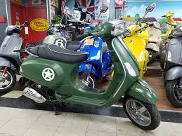 2009 Vespa S150 Custom Army Paint Design Just Had A Full Service And New Battery Only 215 Miles PRICE 219500
