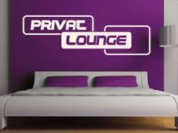 details zu s297 wandtattoo privat lounge aufkleber schlafzimmer bett sofa