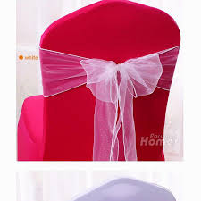 chiffon satin wedding chair sashes bows 100 pcs red silver blue
