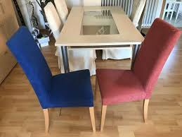 6 stühle stuhl mit veloursbezug und stuhlhussen esszimmer