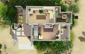 Sims 3 Floor Plans Download by Mod The Sims Beach Cabin Small Beach House For Single Sim