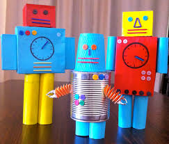 CREATIVE SERIES Kids Creative Art And Nature Days Recycled Robots
