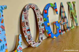 DIY Mod Podge personalized wood letters