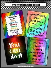 Rainbow Classroom Decor BUNDLE Motivational Posters