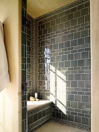 shower tile patterns bathroom traditional with accent border
