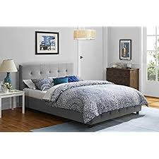 Amazon Zinus Upholstered Button Tufted Premium Platform Bed