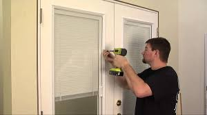 Jen Weld Patio Doors With Blinds by How To Reinstall Mini Blind Operators Youtube