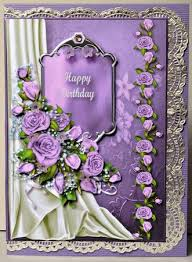 Lilac Roses Happy Birthday Decoupage pleted by Kristina Norbat