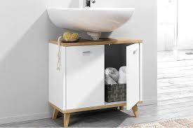 livarno living waschbeckenunterschrank eiche weiß ca b 60 x h 55 x t 28 cm