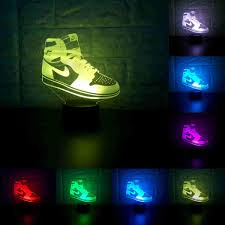 Sneakers 3D Lamp Table NightLight 7 Color Change Running