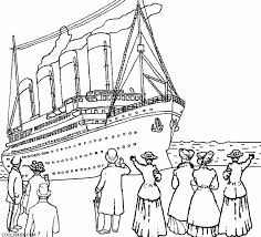 Printable Titanic Coloring Pages For Kids