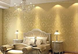 metallic gold tapete schlafzimmer goldene