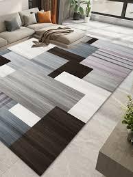 wohnzimmer teppich mit geometrischem muster