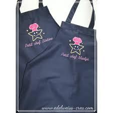 tablier de cuisine enfant tablier de cuisine enfant bleu marine edelweiss creation
