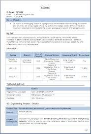Resume Examples 2016