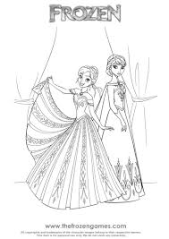 Frozen Coloring Pages Sisters Anna And Elsa