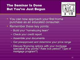 First Time Home Buyer Presentation