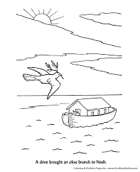 Bible Noah Knew That The Flood Waters Had Gone Down Print This Story Character Coloring Activity Sheet