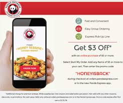 Panda Express Coupons - $3 Off $5 Online At Panda Dinner Fundraisers Panda Express Feedback Get Free Meal Pandaexpresscom Hot Entree At W Any Online Order Deal Allposters Coupon Code 50 Marvel Omnibus Deals Coupons Clark Deals Guest Survey Recieve A Free On Your Next Visit Halo Cigs 20 Express December 2018 Pier One Imports Renewal Homeaway Coupons For Cherry Hill Mall Free 35 Off Promo Discount Codes The Project Gallery Leather Take Firecracker